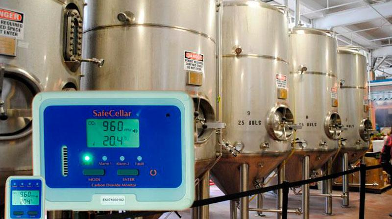 CO2 monitoring for cellars, bars and restaurants